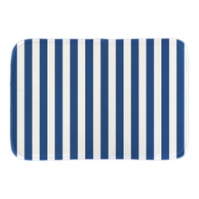 Welcome Doormat Designed With Cobalt Blue White Striped Soft Lightness Indoor Outdoor Door Mats Short Plush Fabric Bathroom Mats
