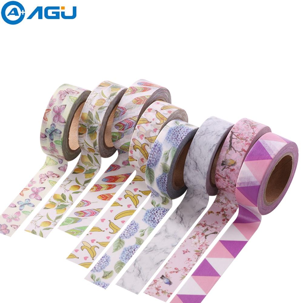 AAGU New Arrival 15MM*10M Fresh Fruit Washi Tape Banana Grape Masking Tape Single Sided Planenr Sticker Adhesive DIY Paper Tape