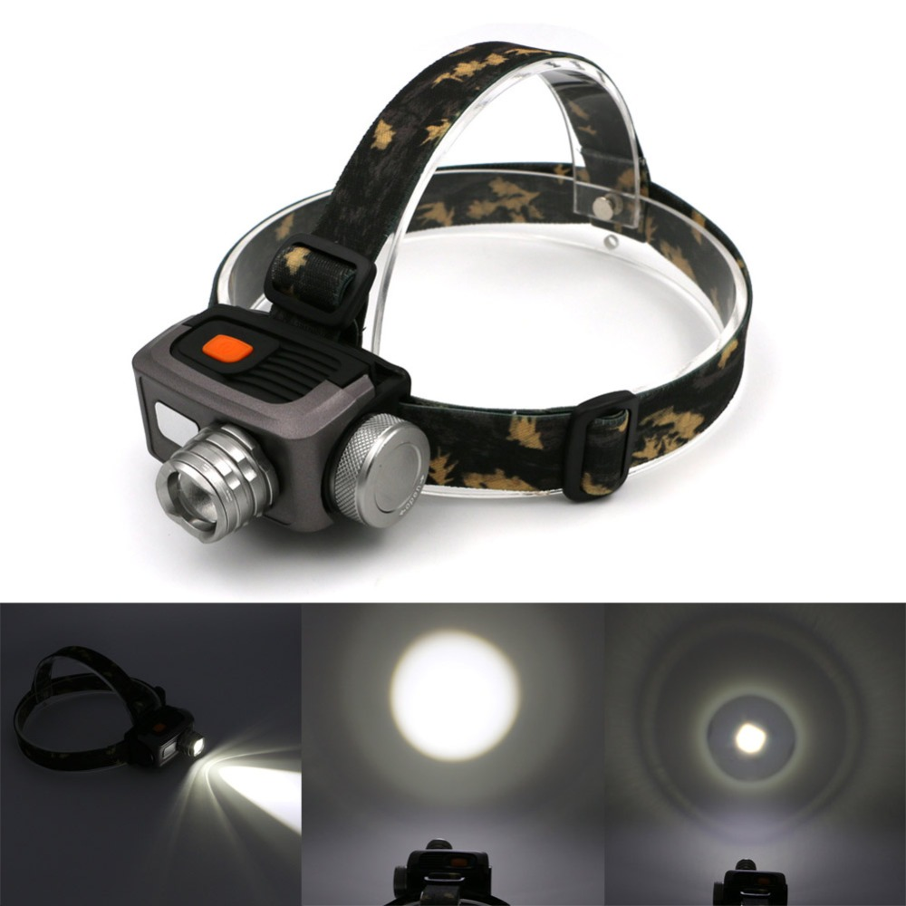 1800lm 3 Modes LED Headlight Headlamp Flashlight Frontal Lantern Zoomable Head Torch Light To Bike For