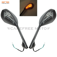 Amber LED Turn Signal Lights Motorcycle Rear View Mirror Case for Ducati Panigale 899 1199 1199S 1199R 2012 2015