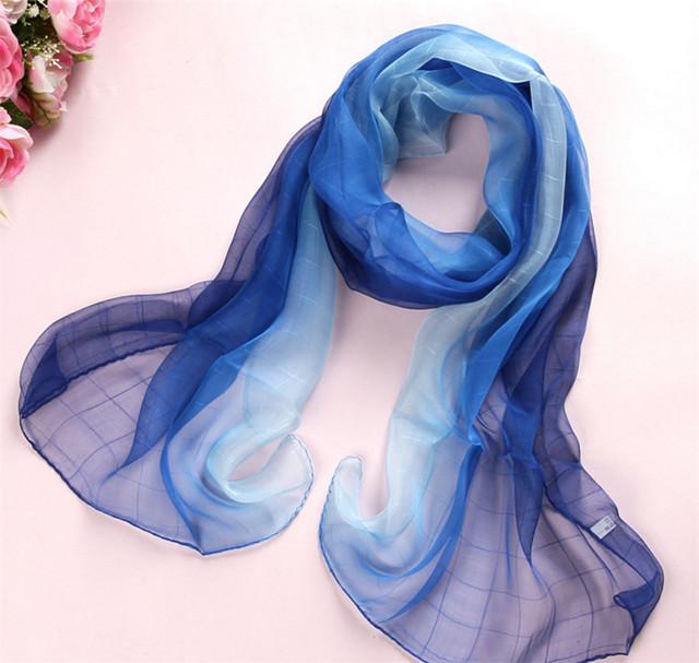 [El himno A la Alegría] 100% pura seda bufanda de la Playa Precio Más Bajo Mujeres de La Manera larga de Seda Bufandas de la Marca de Lujo de la señora chica chales