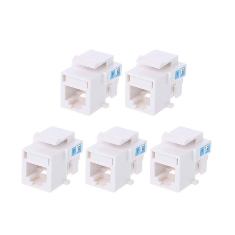5Pcs Tool-free Telephone Module RJ11 Network CAT3 Voice Module Gold-plated Adapter Telephone Extender Keystone