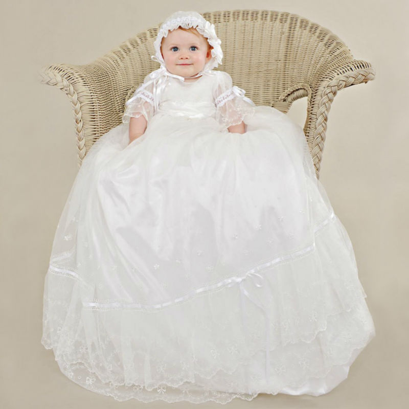 2017 Christmas Dresses New Flower Girls Dresses For Wedding Gowns Baby Girl Clothes Satin Dresses for Communion