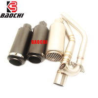 Motorcycle Exhaust System Mid Tube DB Killer Muffler Escape for Yamaha R15 Exhaust System 2008 2009 2012 2013 2014 2015 2017 Sc