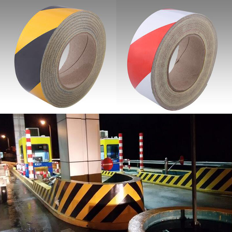 Купить с кэшбэком 50mm X10m Self-Adhesive PET Reflective Sticker Road Bike Car Motorcycle Reflective Tape Bicycle Decoration Sheeting Film