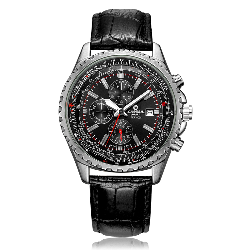 Luxury brand watches men fashion classic sport mens quartz wrist watch relogio masculino waterproof 100m CASIMA #8882