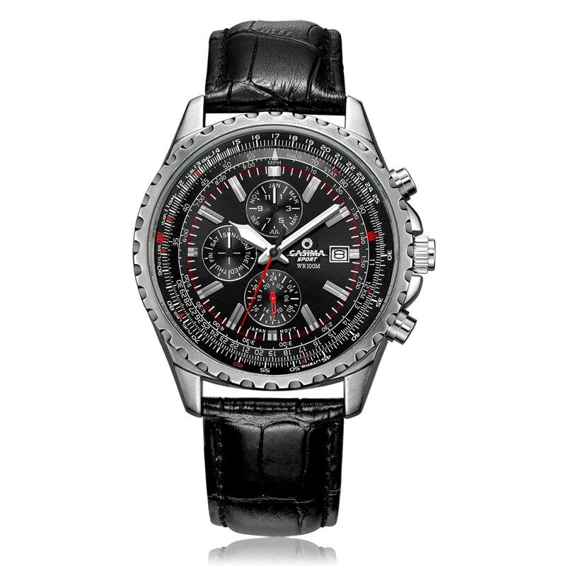 Marque de luxe montres hommes mode classique sport hommes quartz montre-bracelet relogio masculino imperméable 100 m CASIMA #8882