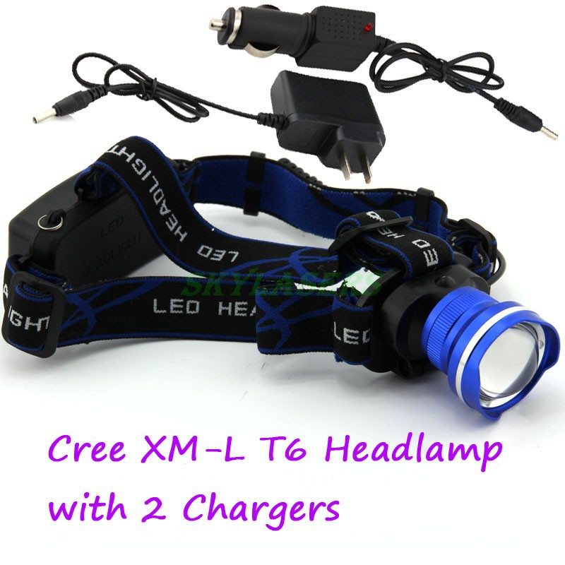 3 Colors CREE XM L T6 XML Headlight LED 1800Lm ...