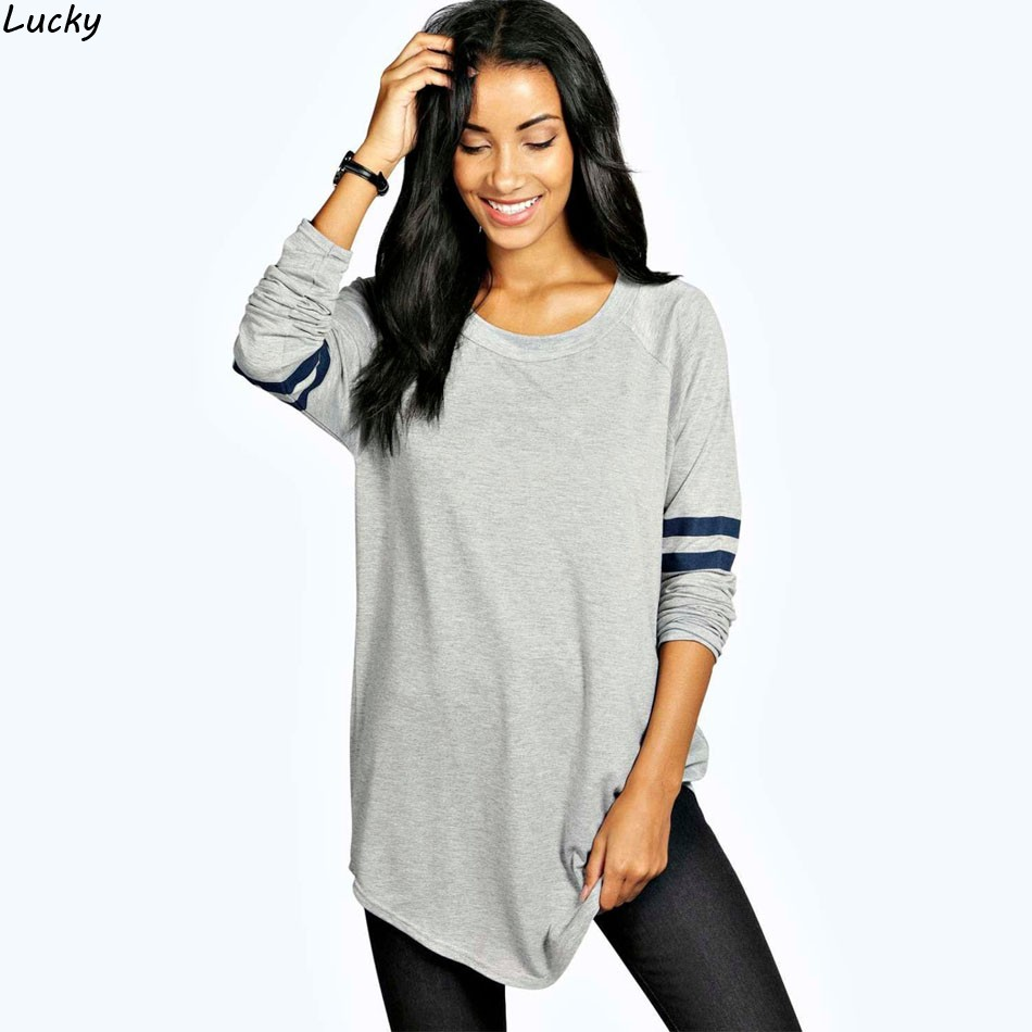 T Shirts Women 2017 Spring Autumn Long Sleeve Base Ball Long Female T Shirt Casual T Shirt Women ...
