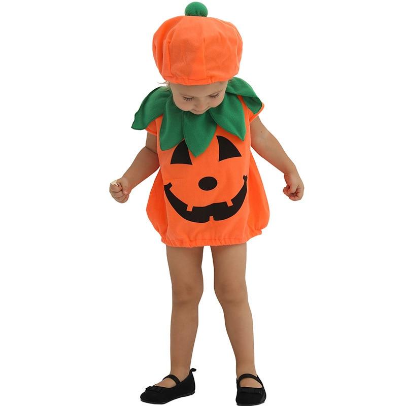 Halloween Costume Baby Pumpkin Set Play Suit