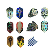 Laser 2D Metal  Dart Slim Flights V-Shap Tail Leaves Harrows Throwing Toy Accessories Dart Gift Professional 11 sets 33 pcs
