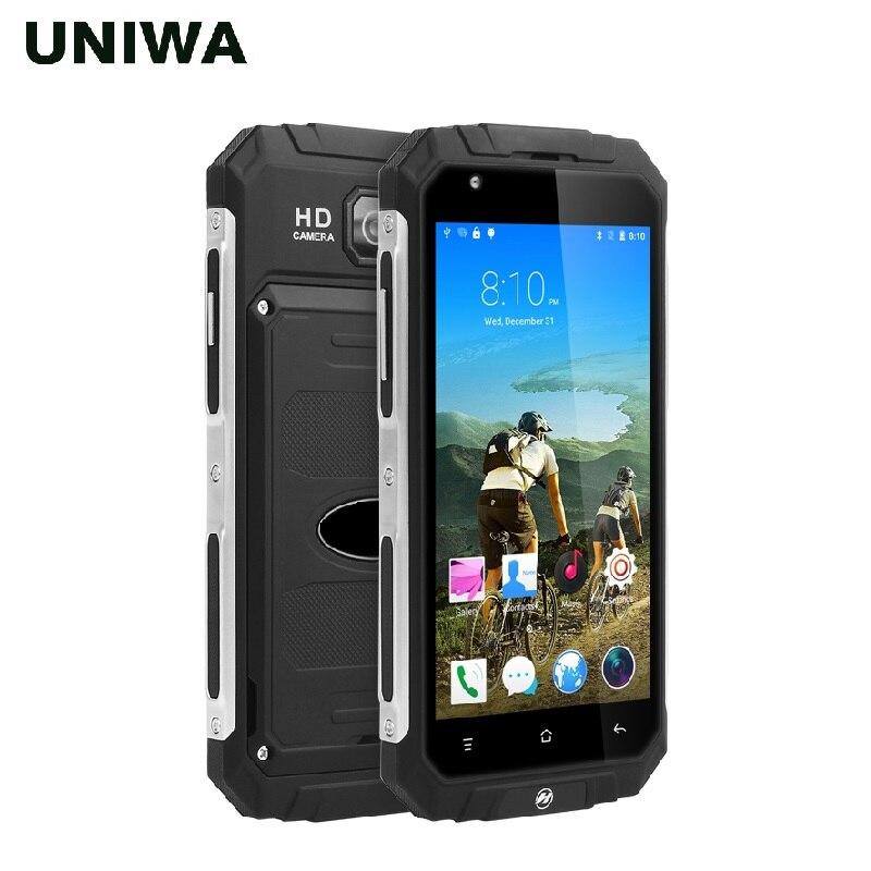 UNIWA V9 + 5.0 pouces QHD écran tactile en métal cadre robuste Style téléphone Android avec 3000 mAh grande batterie MTK6580 Quad Core Smartphone