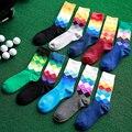 Новые Люди Носок Толстые Мужчины Ромб Печати Супер Качество Бизнес Случайный Теплый Дышащий Длинные Хлопчатобумажные Носки Мужские 10 Цветов M456
