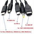 Carregador USB Cabo de Carregamento compatível para GBA SP/PSP/Nintendo 3DS XL/2DS/NDSi LL/Wii U Jogo