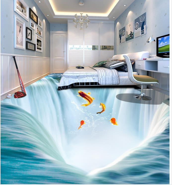 Aliexpresscom Buy PVC Waterproof Floor D Perspective Drawing Of - 3d printed floor tiles