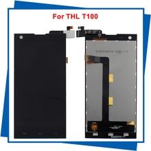Для THL T100 T100S ЖК-Дисплей + Сенсорный Экран Планшета ассамблея FHD 100% гарантии на Бесплатную Доставку
