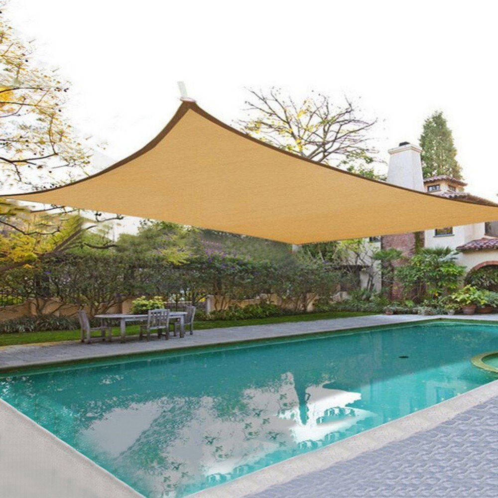 Outdoor Sun Shelter Net 6 Needle Thickened Covered  (1)