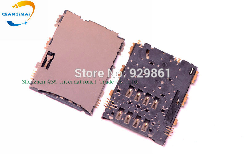 QiAN SiMAi 1PCS SIM Card Reader Holder Connector Socket Slot Replacement Parts For Samsung Galaxy Tab 2 7.0