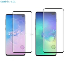 3D Voll Gehärtetem Glas Für Samsung Galaxy S10 Plus Fingerprint Identifikation Glas Screen Protector S10 +