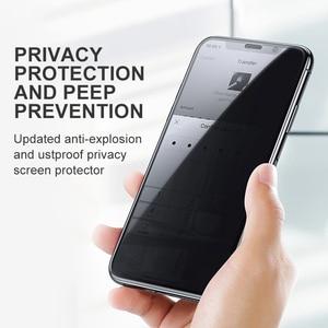 Image 2 - Baseus غطاء حماية شاشة الخصوصية الزجاج المقسى ل آيفون Xs ماكس Xr X S R Xsmax مكافحة يبصر الغبار واقية زجاج واقي فيلم
