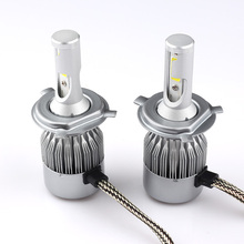 1pair(2pcs)h4 4000k Super Bright Car Led Headlights Bulb Kit All In One Automobile Fog Lamp 12v-24v Small Base Waterproof