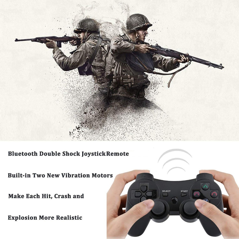 Image 5 - 2019 New arrival Wireless Game Controller with charging cable for PS3 gamepad Wireless 6 axis Double Shock-in Gamepads from Consumer Electronics