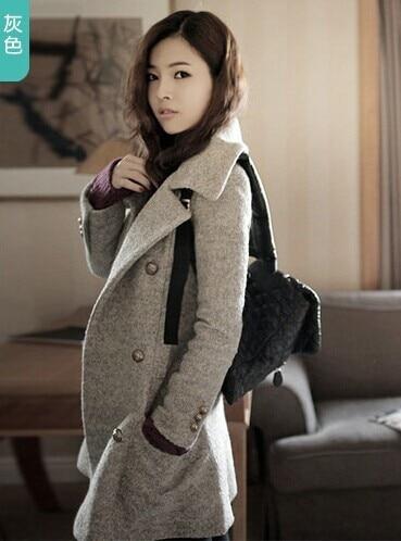 Nueva moda de invierno mujer abrigo largo Blazer corea