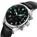 Quarz Maschinen Uhr Karneval Berühmte Marke Armbanduhr Military Tauchen Uhr Männer Luxus Leder Uhren relogio masculino