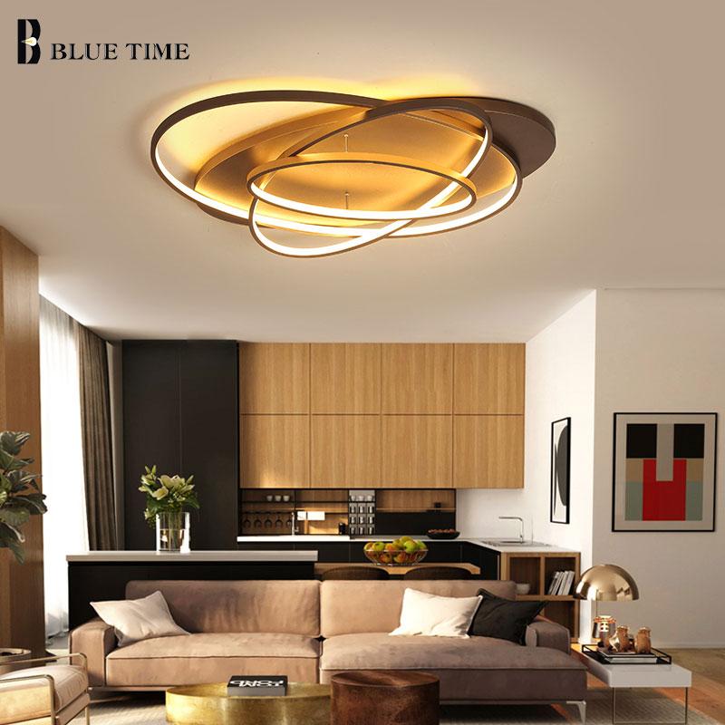 Café Corps Anneaux Moderne Led Plafonniers AC110V 220 v Art Décoration LED Plafond Lampe Pour Salon Chambre Salle À Manger chambre Lampe