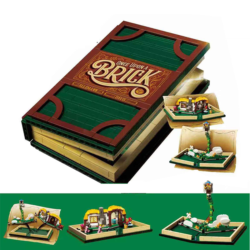 Cadeaux de noël Idée Série 1248 Pop-up Livre compatible avec Legoing 21315 Ensemble blocs de construction Briques jouets éducatifs Modèle