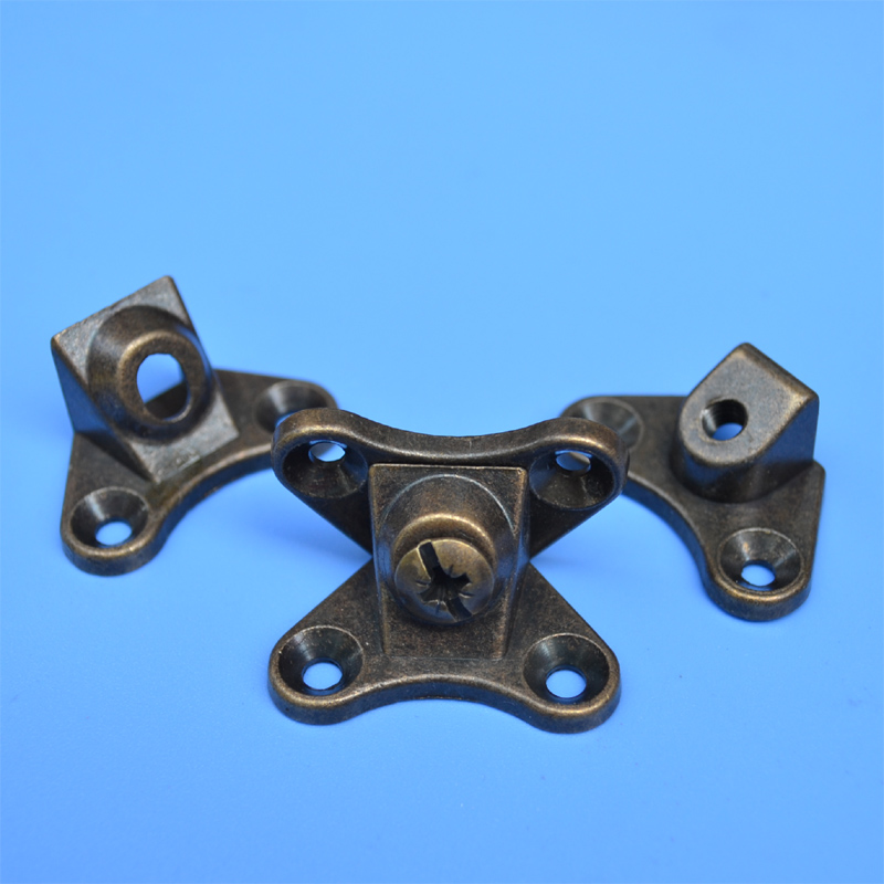 Фото free shipping zinc alloy screw Green bronze furniture fittings triple connector plate assembly household hardware DIY fastener