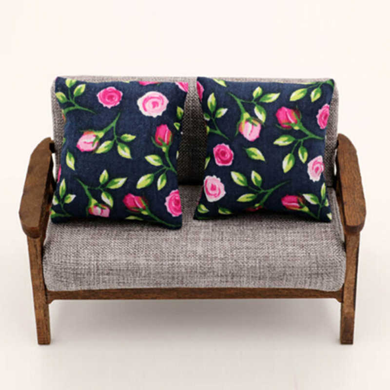 Pleasing 2Pcs Mini Cute Flower Pillow Cushions For Sofa Couch Bed 1 12 Dollhouse Miniature L 4 3 W3 9 Theyellowbook Wood Chair Design Ideas Theyellowbookinfo