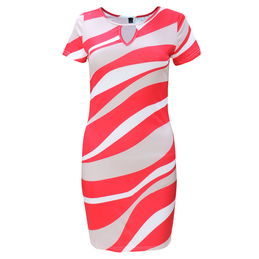 616401cb016 New Summer Printed Bodycon Elegant Modest Dress Women Summer Dresses Plus  Size Women Clothing Sexy Dresses-in Dresses from Women s Clothing on ...