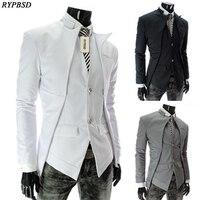 גרסה קוריאנית של האביב ובסתיו סימטרי slim גברים עיצוב גברים אופנה חליפה קטנה חליפת colo הטהור מעיל מזדמן