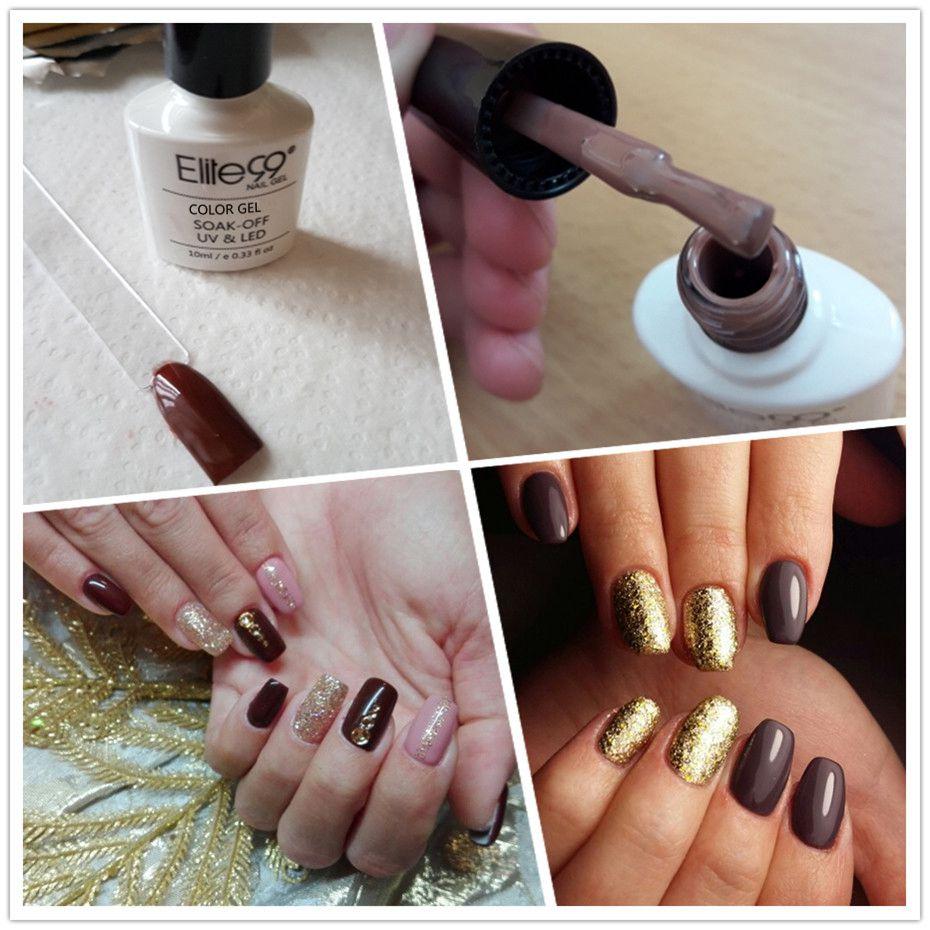 Elite99 Coffee Brown Colors Series Nail Gel Polish 10ml Gorgeous ...
