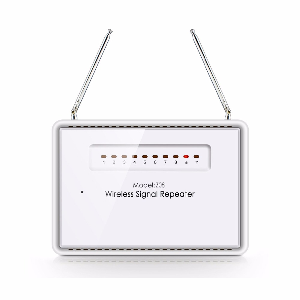 Free shipping Wireless Signal Repeater Booster Extender Dual Antenna Transfer For KERUI Home Alarm Security System 433MHz free shipping dc12v 433mhz metal