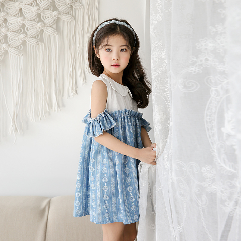 все цены на 2018 Baby Girl Midi Dress Open Shoulders Dress For Holiday Teens Tutu Outifts Children's Festa Dress Party Frocks Kids Clothes