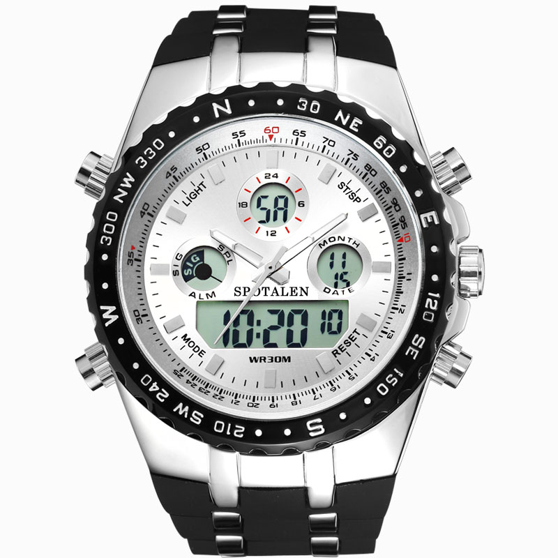 Sport Men Watch Digital LED Electronic Watches Top Brand SPOTALEN luxury Military Quartz Wristwatch Relogio Masculino Clock 2017 weide genuine top brand luxury men watch led sport digital black quartz relogios masculino watches large discs electronic clock