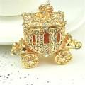 FD2750 new  Crystal Wedding Royal Carriage Keyring Charm Pendant Purse Bag Key Chain
