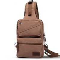 6001 Spring And Summer 2017 Canvas Chest Package Shoulder Bag Man Women Canvas Chest Bag