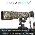 ROLANPRO Wasserdichte Regen Abdeckung für SIGMA 500mm F/4 DG OS HSM Sport Schutzhülle Guns Objektiv Kleidung kamera Camouflage Mantel