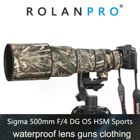 ROLANPRO Waterproof Rain Cover for SIGMA 500mm F/4 DG OS HSM Sports Protective Sleeve Guns Lens Clothing Camera Camouflage Coat
