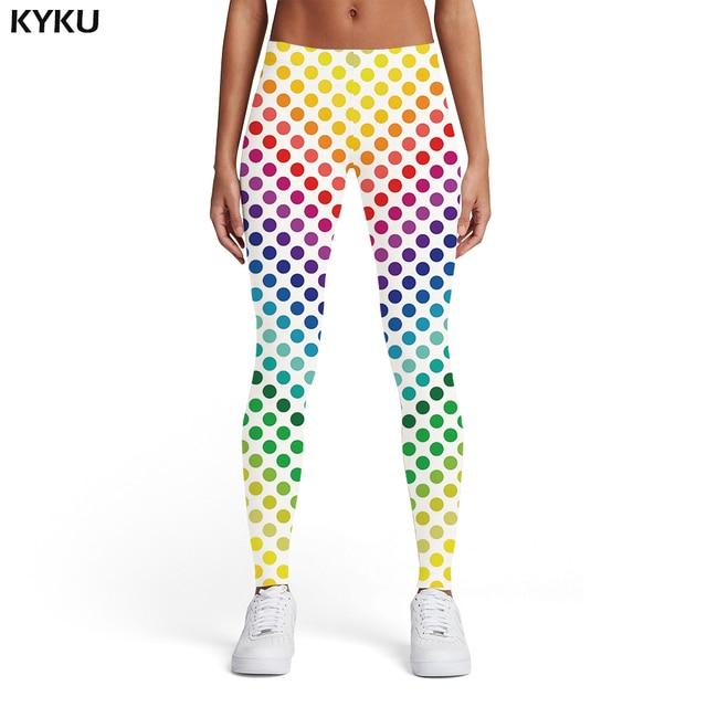 KYKU Psychedelic Leggings Women Colorful Sport Gothic Trousers Art Elastic Dizziness 3d Print Womens Leggings Pants Fitness 1