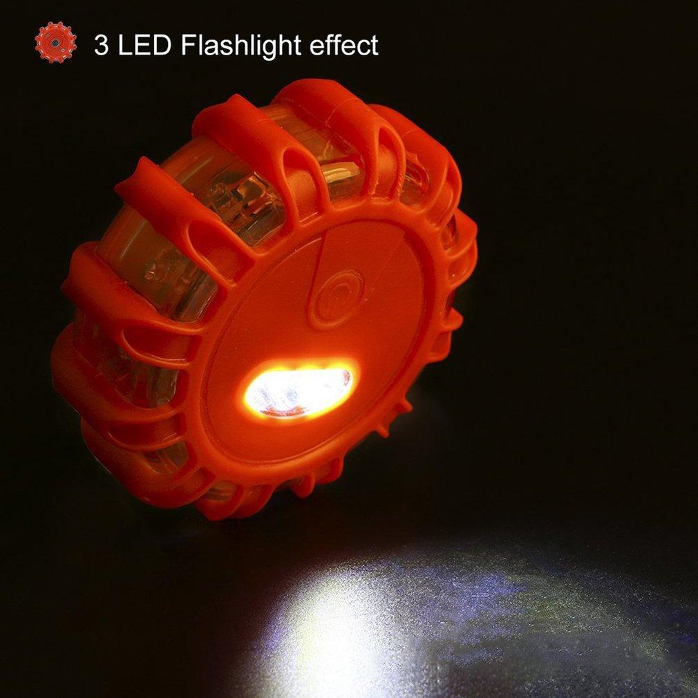 Multifunctional 12+3led Warning Light Road Rescue Light With Magnet On Back Warning Light