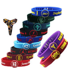 Fashion simple new basketball star thickening adjustable wristband bracelet hot sale(China)