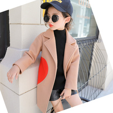 Girls clothes Trench Coats Jacket For Clothing Tops Kids children's Windbreakers Spring Autumn Outerwear wool coat hooded mantle