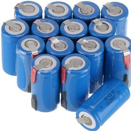 Cncool 4PCS/lot New Sub C SC 1.2V 1800mAh Ni-Cd Rechargeable batteries Electric tools/el ...