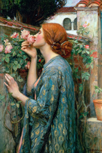 Neo Classical figurative painting canvas portrait poster beauty picture giant home decor The Soul of the Rose, 1908