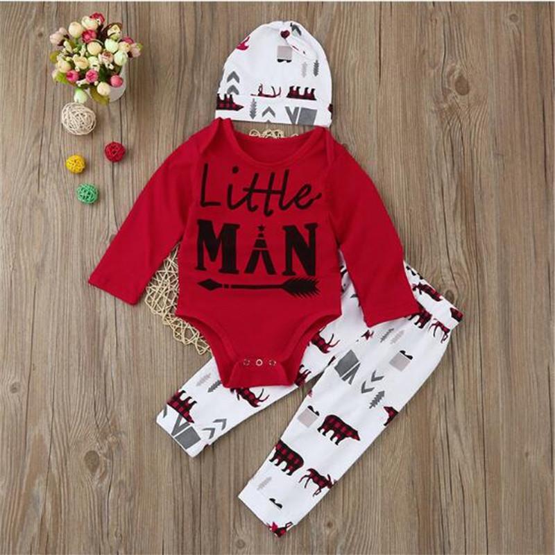 9af7f237a AOSTA BETTY 3 PCS Set 6M 24M Baby Boys Clothing Set Autumn Cotton ...
