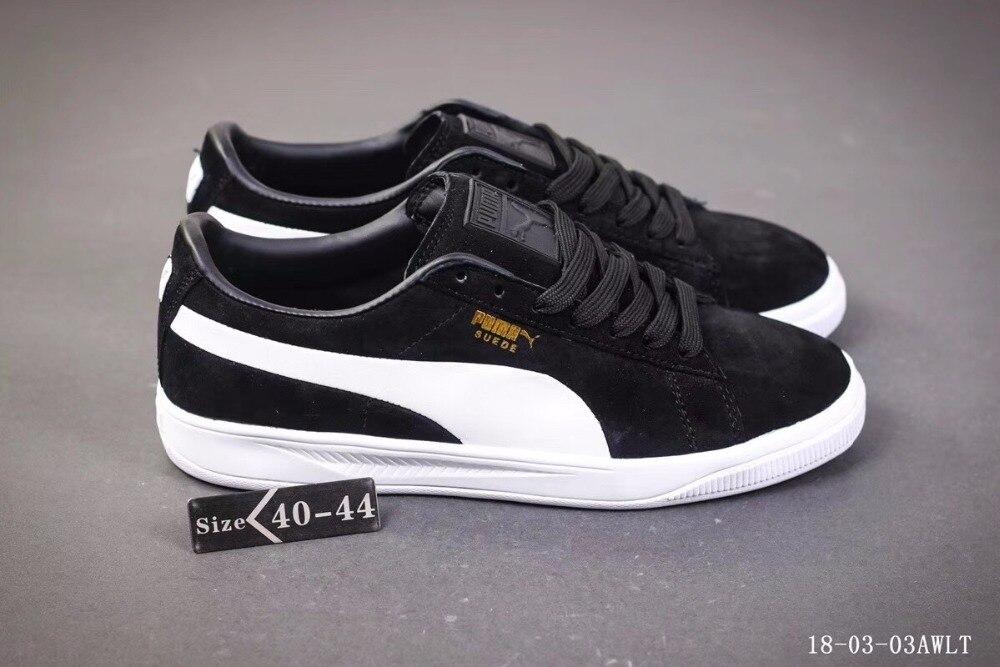 économiser e73be 00c62 PUMA Suede Classic Men's Sneakers Classic Basket Suede Tone Simple  Badminton Shoes Size40-44